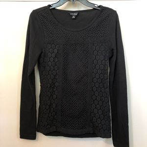 🔴 5 for $25 🔴 Lucky Brand Black lace sweater